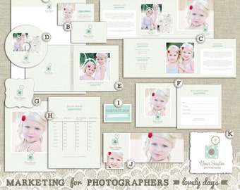 Photography Marketing Set Kit for Photographers Logo Business Card Etc Package