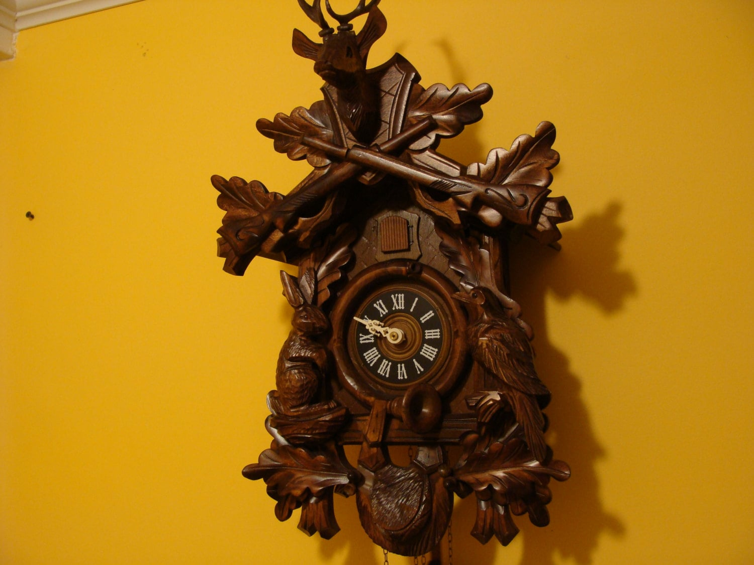 Hunter Cuckoo Clock Made In Germany Hand Made