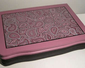Paisley Repurposed Silverware Box