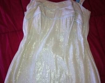 50's Gold/ White lurex swimsuit