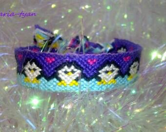 Penguins in the snow friendship bracelet