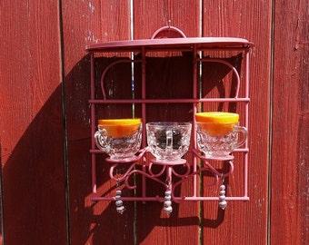 Pink Sconce style bird feeder