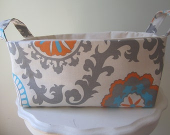 Fabric Bin - Organizer - Diaper Caddy - Dorm Organization