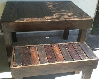 Reclaimed  Wood Pallet Occasional/Dining Bench,  Louisiana