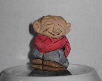 miniature carved man