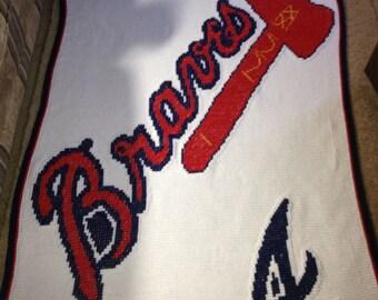 Atlanta Braves Afghan