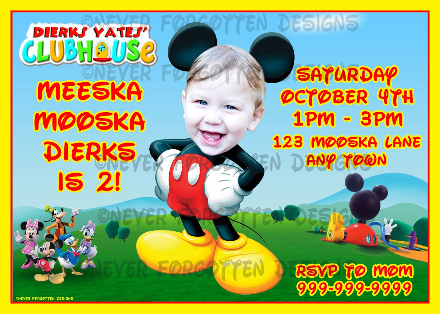 Mickey Mouse Clubhouse Birthday Party Invitations for your inspiration to make invitation template look beautiful