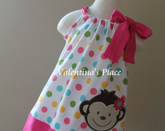 Super Cute Mod Monkey pillowcase dress