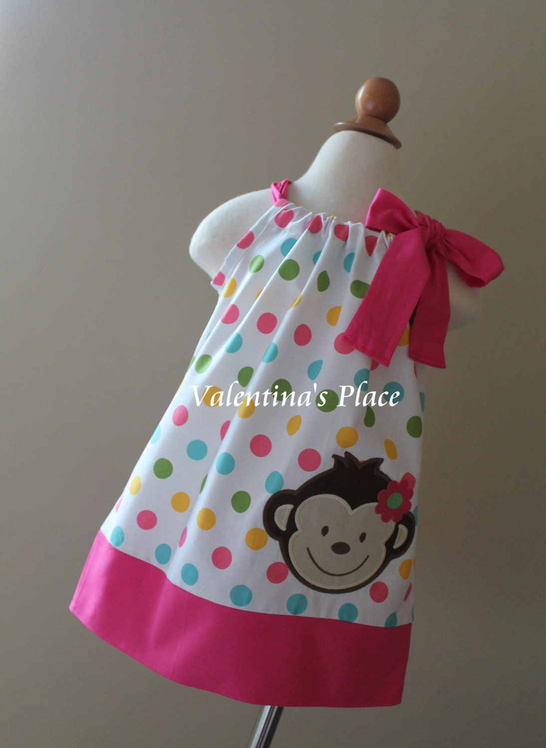 Super Cute Mod Monkey pillowcase dress by Valentinasplace on Etsy