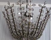Vintage Brass / Crystal Chandelier 10 candle lights