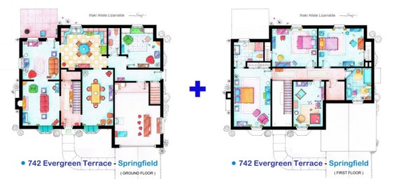 The house of THE SIMPSONS - Individual Floorplans