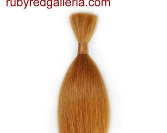 BD0007MH3 Auburn Straight ReBorn Toddler Hair 0.25 oz