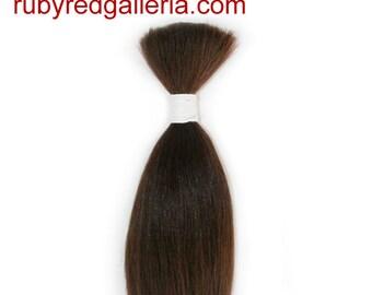 BD0008M7 Medium Brown Straight NuBorn Mohair 0.25 oz