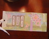 Butterflies and Flowers Bookmark