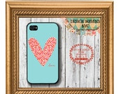 Love and Hearts iPhone Case, Plastic iPhone Case, Valentines Day iPhone Case, iPhone 4, iPhone 4s, iPhone 5, iPhone 5s, iPhone 5c, iPhone 6