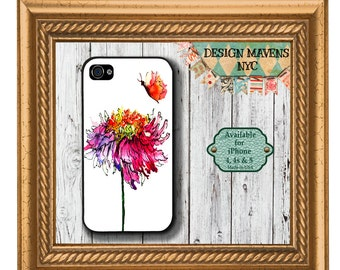 Butterfly iPhone Case, Gift for Her iPhone Case, Floral iPhone Case, iPhone 6, 6s, 6 Plus, SE, iPhone 5, 5s, 5c, 4, 4s, Phone Case