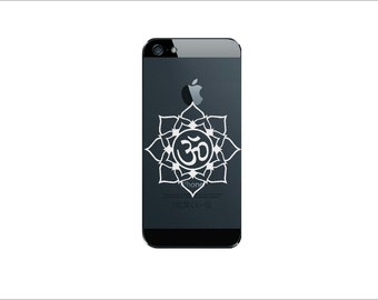 Ohm Flower     - iphone,  Macbook Air, Macbook Pro,  Macbook decals, sticker ,Vinyl Mac decals ,Apple Mac Decal, Laptop, iPad, iphone 5