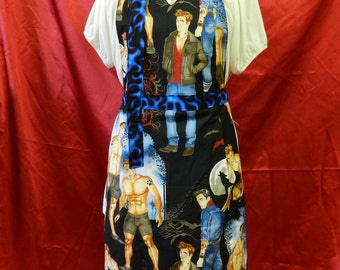 Full Apron, Rugged Hunks Apron, Is That Edward Cullen, Alexander Henry Pin-up