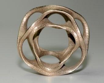 Bronzed stainless steel geometric pendant