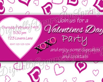 Printable Valentines Day Party Invite