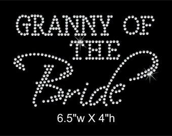 Granny of the Bride Rhinestone Transfer