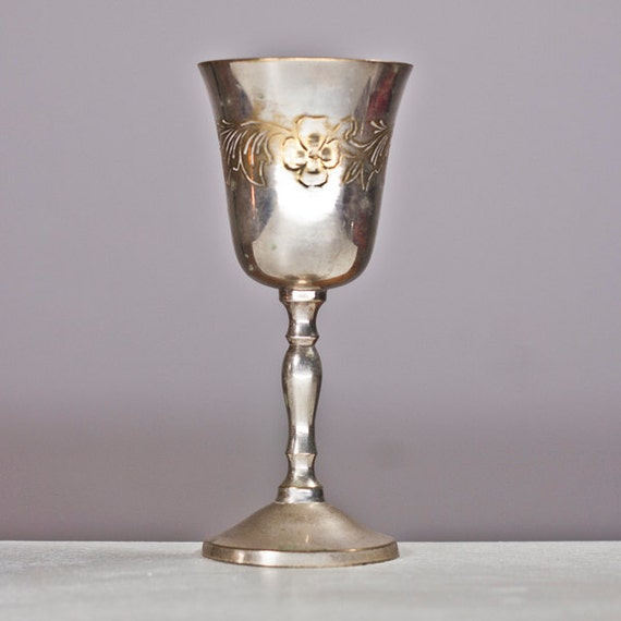 Kiddush Cup Silver Plated Goblet Silver Plated Brass Wine