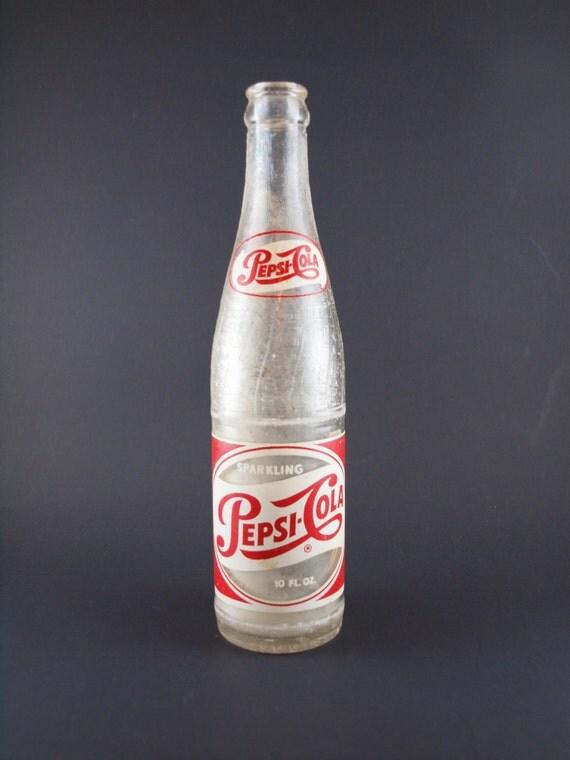 Vintage 1940 S Sparkling Pepsi Cola Bottle Rare 10 Ounce