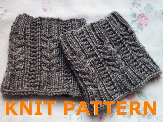 Knit Pattern For Boot Cuffs Free : Items similar to KNIT PATTERN-- Melissas Cabled Boot Cuff on Etsy