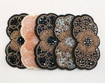 1 pc of Flower Rhinestone applique beaded for Headband Hair Accessories Clips Headpiece 32 Annielov