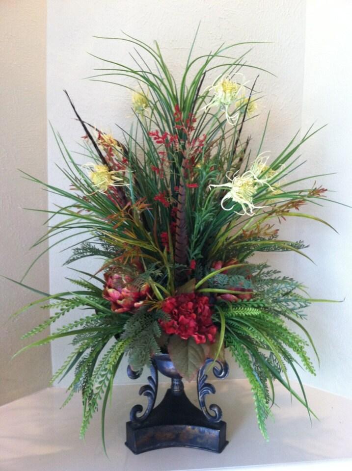 reserved listing for shala c large silk floral arrangement. Black Bedroom Furniture Sets. Home Design Ideas