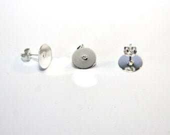 10 Piece platinf. Studs with plate 10 mm OH69