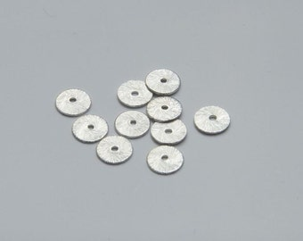 50Pcs 8mm washers silver plated MP083