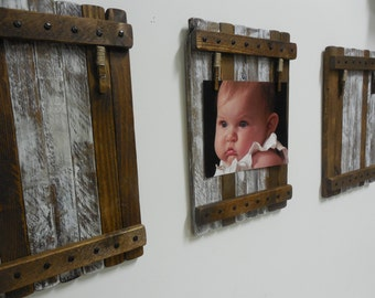 Picture holder/frame (3) Large Rustic/shabby chic wall hanging