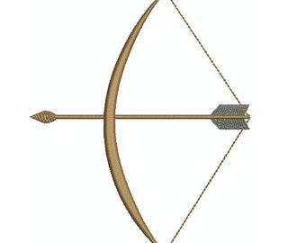 Machine Embroidery Design Instant Download - Bow and Arrow 1