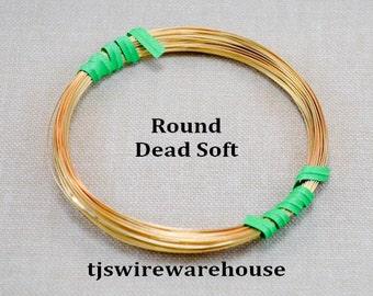 16 Gauge Nu Gold Wire, Red Brass Wire, 16g, Round, Dead Soft, 10 ft.