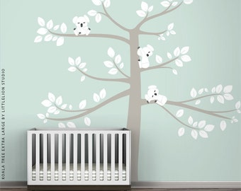 Koala Tree Extra Large Wall Decal by LittleLion Studio