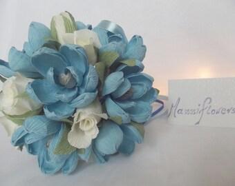 Bridal bouquet,wedding bouquet,bridesmaid bouquet,paper flower ,magnolias and roses bouquet,bridal flower, magnolia paper flower,