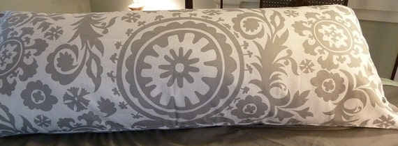 & Suzani pattern body pillow cover pillowsntoast.com