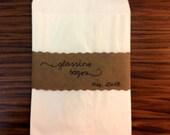 Confezioni da 20 pz di glassine bags