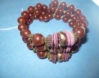 Beautiful Vintage 3 Layer Beaded Bracelet