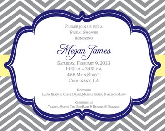 Chevron Bridal Shower Invitation Printable