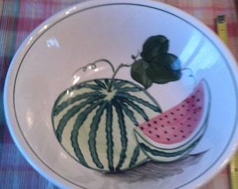 On Sale Hand Painted Ceramic Watermelon 10 Inch Serving Pasta/Vegetable Bowl
