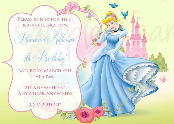 Cinderella Birthday Invitations gangcraftnet