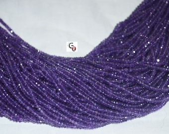 Discount AAA Quality Amethyst Faceted Roundel 14 inch strand 3 mm approx.
