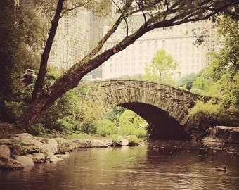 New York Photography, New York Print, Gapstow Bridge, Central Park, Rustic, Landscape Photography, Bridge