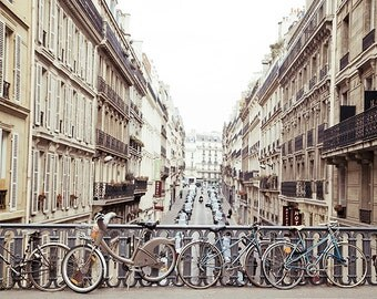Parisian Fine Art, Affordable home decor, pastel Paris, bicycles,view