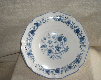Blue & White Flower Serving Bowl by Honkook of Korea