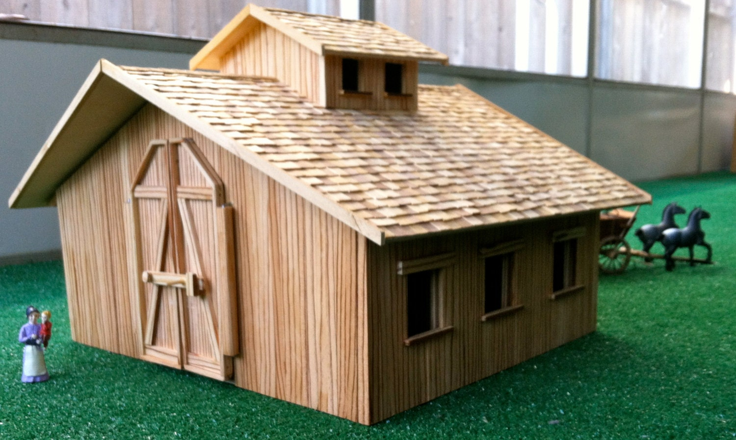 Custom Four Stall Stablemate Barn 100 Real Natural Wood