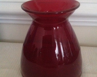 Vintage Ruby Red Glass Vase