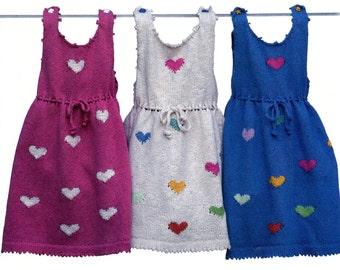 Valentine's Day Heart Dress Knit Pattern